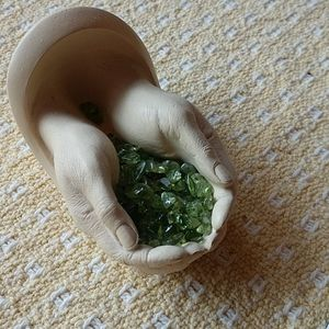 Other - Hand sculpture with green stones